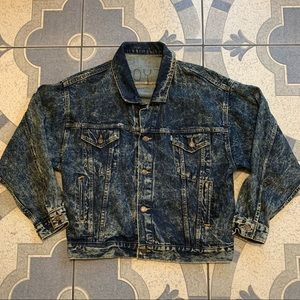 VTG Levi's Tapered Waist Acid Washed Denim Jacket